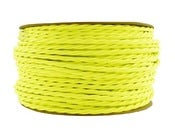 Image of NEON YELLOW | fabric lighting flex cable | TWIST