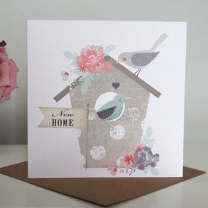 Image of 'New Home' Bird House Card