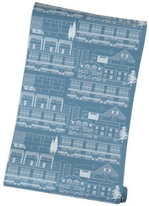 Image of Do You Live in a Town? Wallpaper - Blueprint