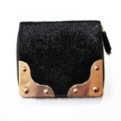 Image of Pony Hair Single Zip Wallet
