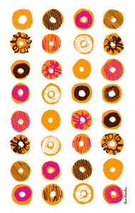 Image of Doughnut Tea Towel