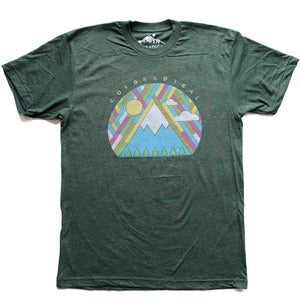 Image of Coloradical Patchwork Mountain T-Shirt
