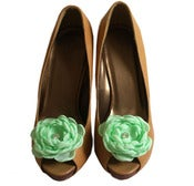 Image of Mint Green Shoe Clips