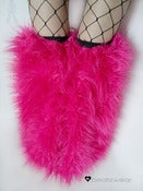 Image of Thigh high fluffies superpoof hot pink
