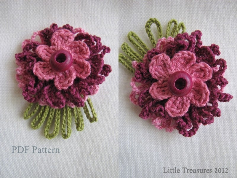 Little Treasures ? PDF Pattern for Crocheted Flowers ...