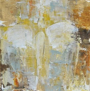"Image of Original art by Melissa Payne Baker - 8""x8"" Angel in Yellow"
