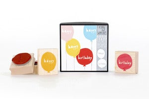 Image of Happy Birthday Balloons Stamp Set