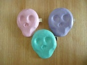 Image of Handmade Sugar Skull Hairclips Candy Colours