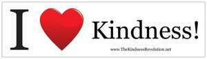 Image of I HEART Kindness Bumper Sticker