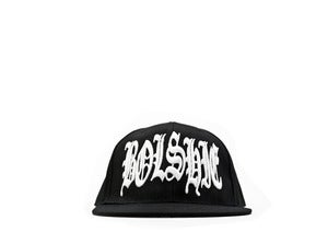Image of NOTORIOUS BOL$HIE WHITE ON BLACK SNAPBACK