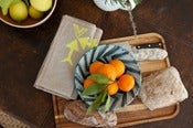 Image of Flax linen napkin set (4) with Citron arrows