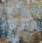 "Image of Original art by Melissa Payne Baker - 10""x 10"" Abstraction in Blue and Gold"