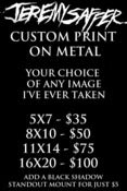 Image of CUSTOM METAL PRINTS (PRINTED ON 1mm Thick Metal) NEW!!