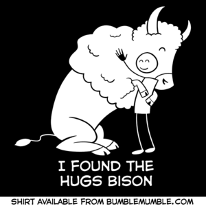 Image of Hugs Bison shirt