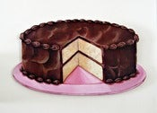 Image of JUMBO Chocolate Two Layer Cake wood diecut
