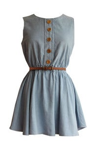Image of Heather denim skater dress