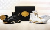 Image of Nike Air Jordan 6 & 7 'Golden Moments' Gold Pack