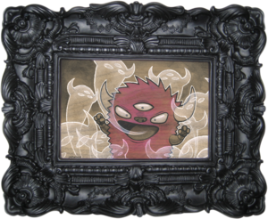 Image of FRAMED CUSTOM KAIJU PAINTING