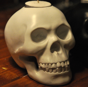 Image of Resin Skull Candle Holders