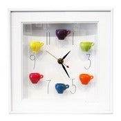 Image of Teacups Clock with Numbers by Carlos Silva