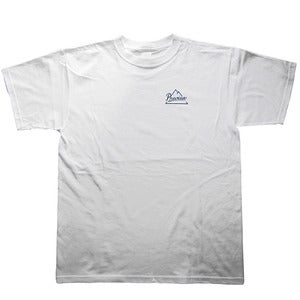 Image of Preview Mountain Logo T-shirt, white / dark navy