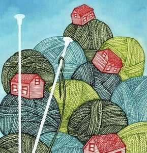 Image of Yarn Village Print
