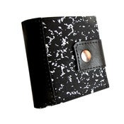 Image of Composition ) Bifold Wallet With Snap (Plus Zipper)