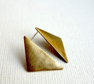 Image of Sideways Triangle Studs