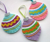 Image of DIY Vintage Felt Baubles - PDF Sewing Pattern