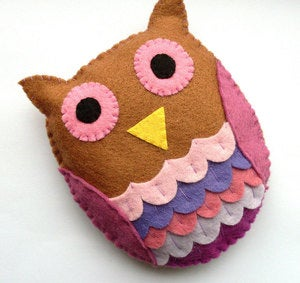 Image of DIY Felt Owl - PDF Sewing Pattern