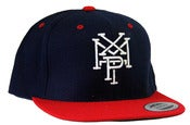 Image of Stacked Logo Snap Back - Navy/Red