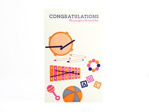Image of Congratulations baby card (toys)