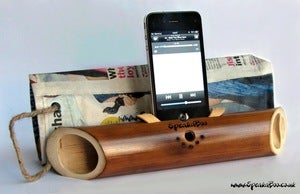 Image of Speakaboo - bamboo iPhone (4/4S and 5)speakers