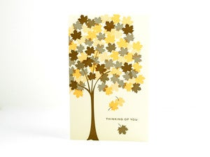 Image of Thinking of you  Fall Autumn Card
