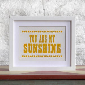 Image of You Are My Sunshine Poster Card