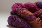 "Image of BATGIRL Sock Yarn, ""Ragged Robin"", BFL-nylon, 464 yards"