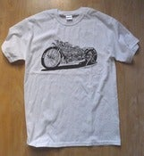 Image of CFH Dragbike t shirt white