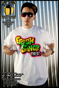 "Image of ""FRESH SINCE THE 80s"" Mens Tee (White)"