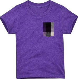 Image of Plaid Pocket Tee Heather Purple