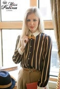 Image of Modern Times Bow Tie Shirt (Navy)