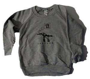 Image of Oakland AT-AT KIDS/baby crew-neck pullover sweatshirt, heather-gray