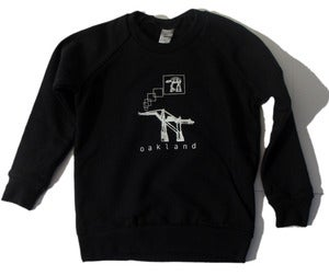 Image of Oakland AT-AT KIDS/baby crew-neck pullover sweatshirt, black