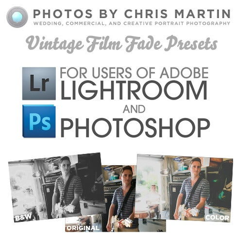 Image of New! Vintage Color and B&W Preset Pack for Lightroom 3 & 4 and Photoshop