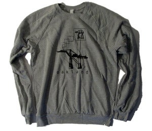 Image of Adult Oakland AT-AT unisex crew neck pullover HEATHER GRAY
