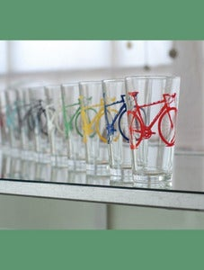 Image of Road Bike Pint Glasses-Set of 2