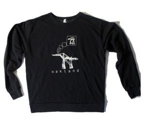 Image of Adult Oakland AT-AT crew-neck pullover FADED-BLACK