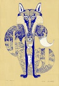 Image of Blue Fox - Limited Edition Screen Print