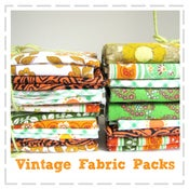 Image of Vintage Fabric Packs - Orange & Limes