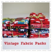 Image of Vintage Fabric Packs - Reds