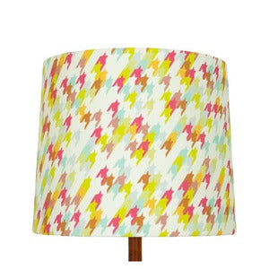 Image of Houndstooth Print Lamp Shade, Waimea